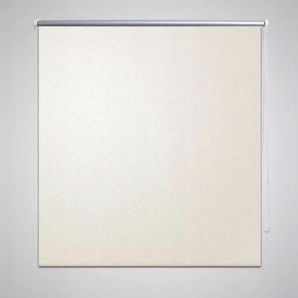 Roleta okienna zaciemniająca ciemna biel 160 x 230