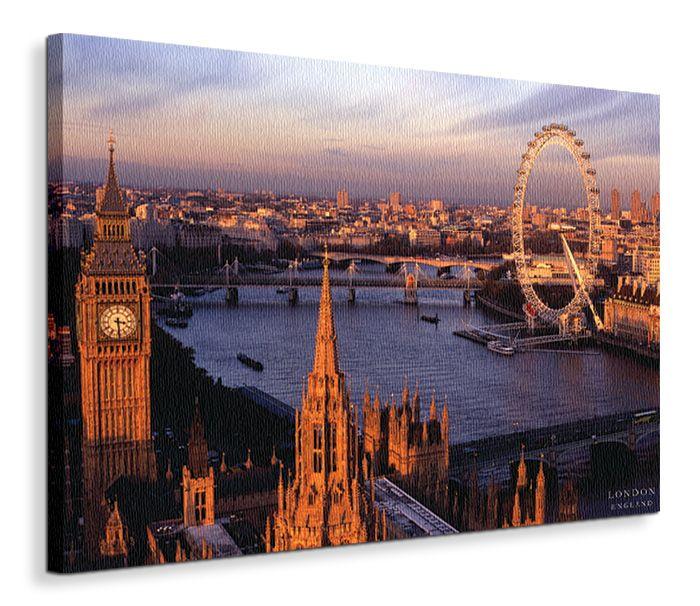 Anglia, Widok na Londyn - Obraz na płótnie 90x120