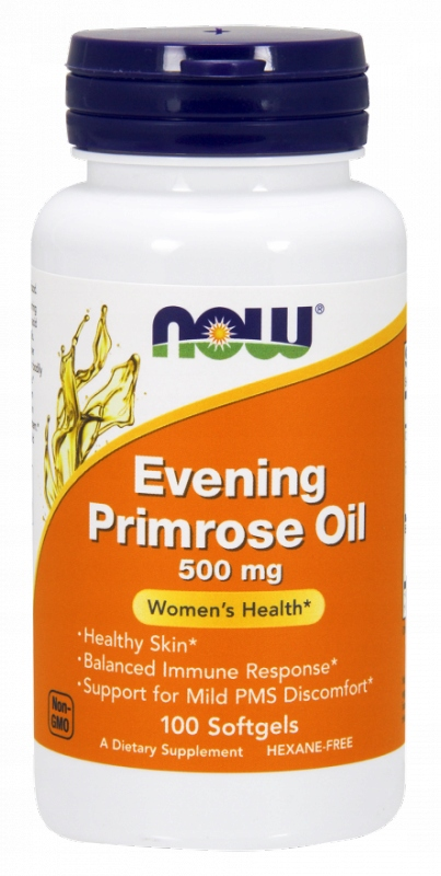 NOW FOODS Evening Primrose Oil 500mg, 100sgels. -