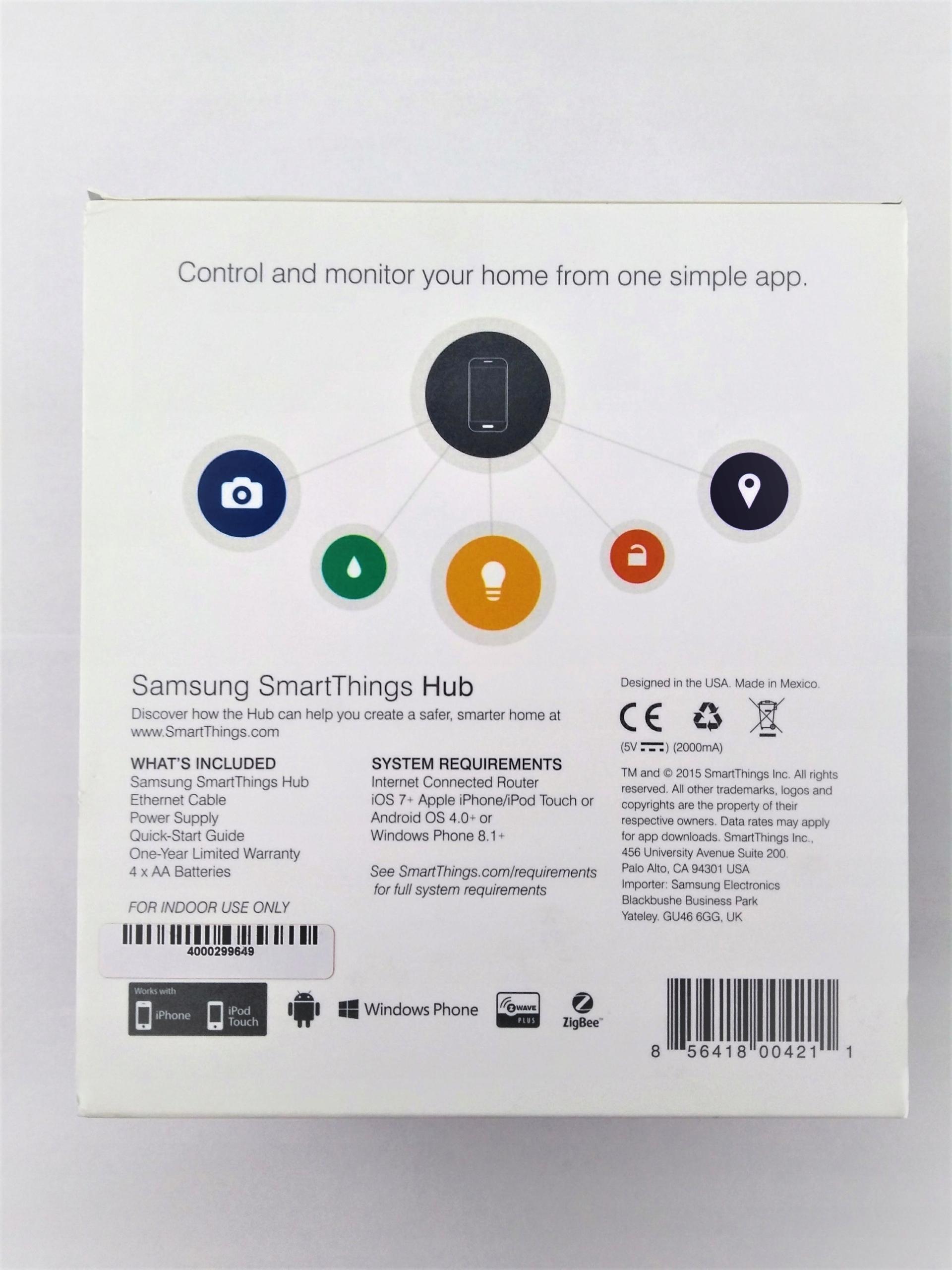 Samsung SmartThings ZigBee Z-Wave + Wtyk Neo FV23