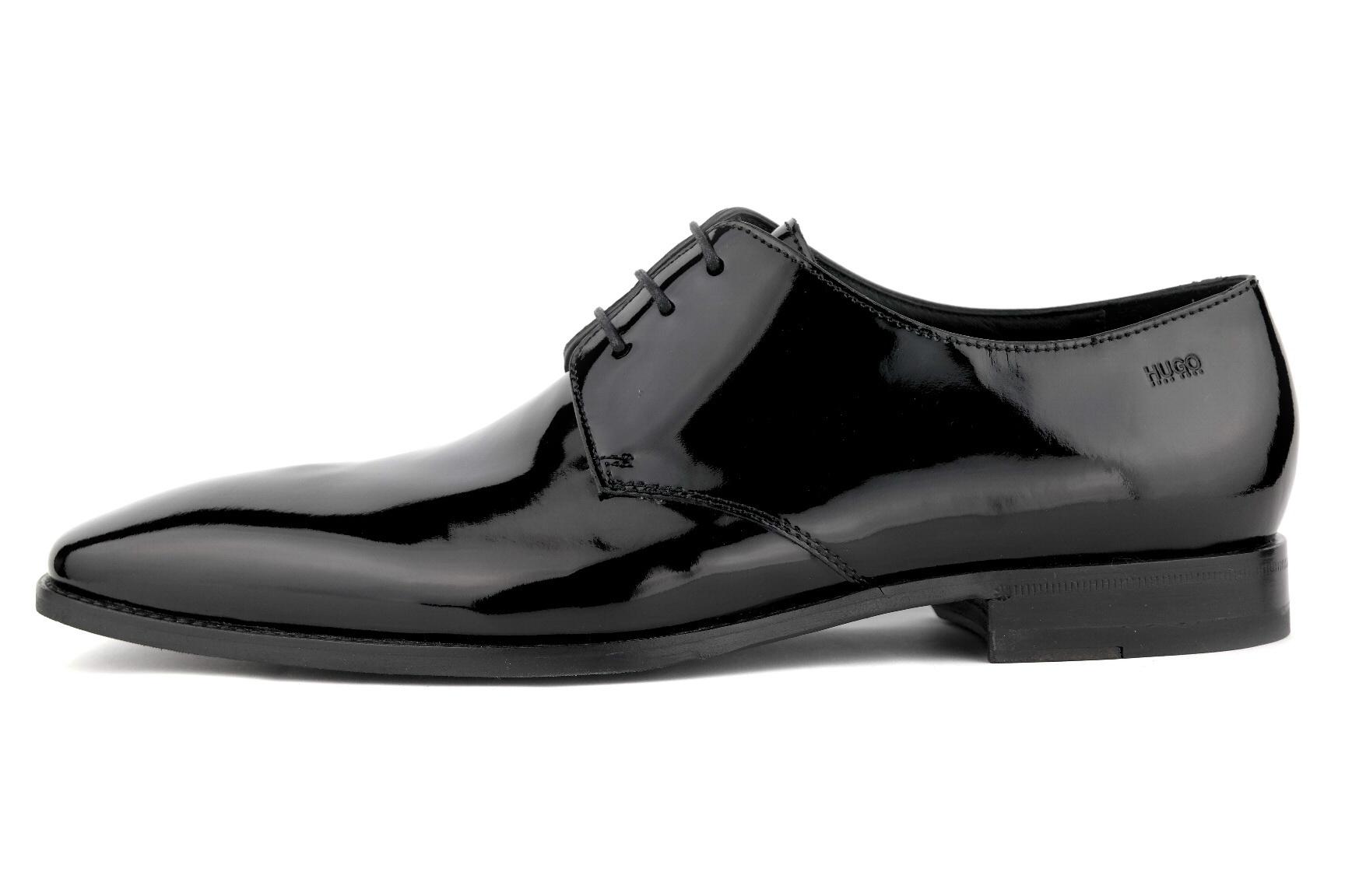 3283ab908381c HUGO BOSS Feroke Buty męskie czarne lakierowane 43 - 6985378582 ...