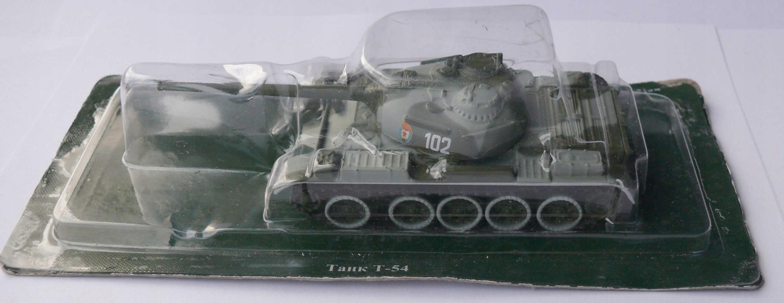 Czołg T-54 zielono szary skala 1/72