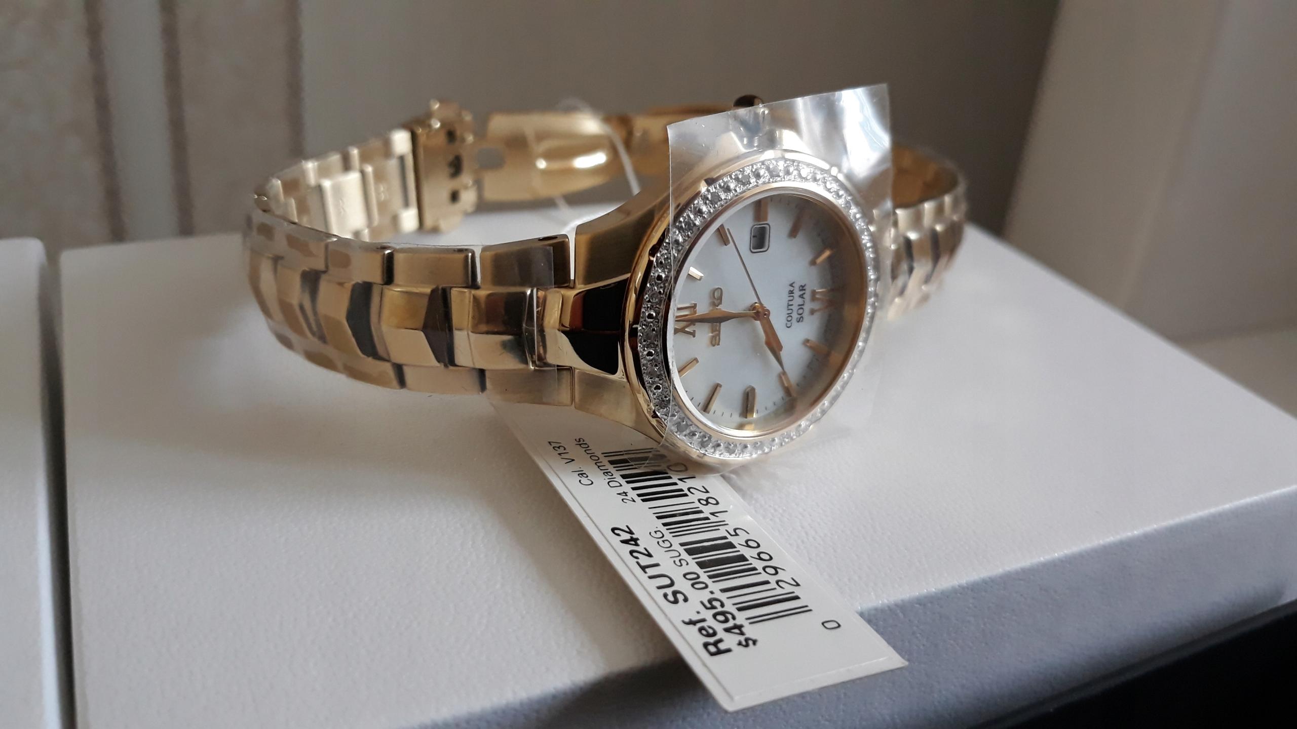 SEIKO SUT242 zegarek damski solar perła 2499zł