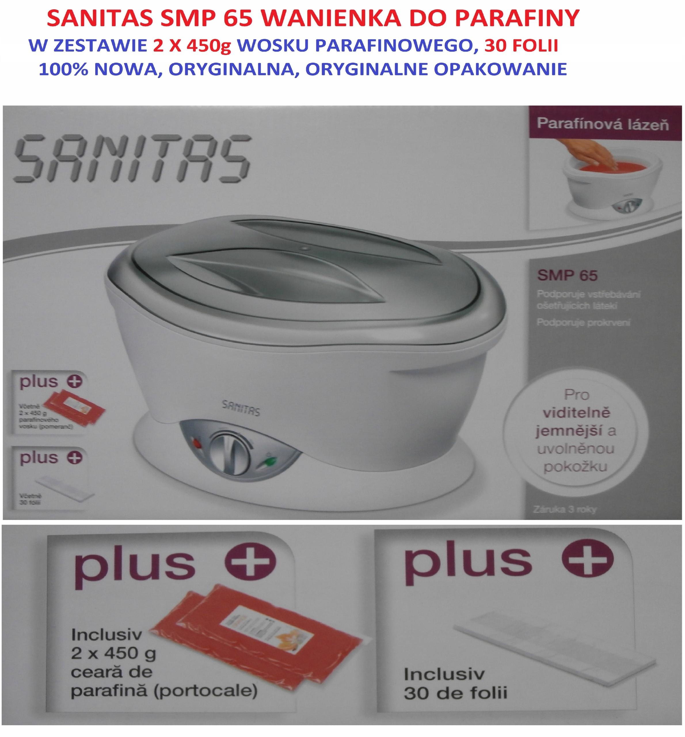 SANITAS SMP65 WANIENKA DO PARAFINY jak Beurer MP70