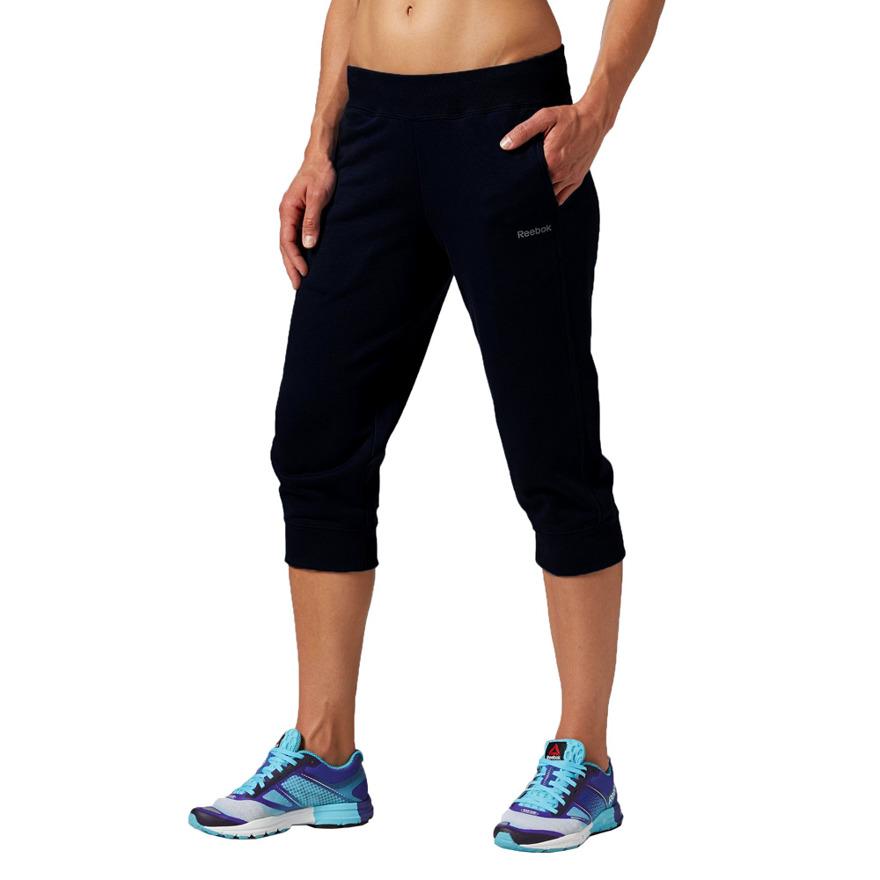 Spodnie 3/4 Reebok damskie spodenki na siłownie XS