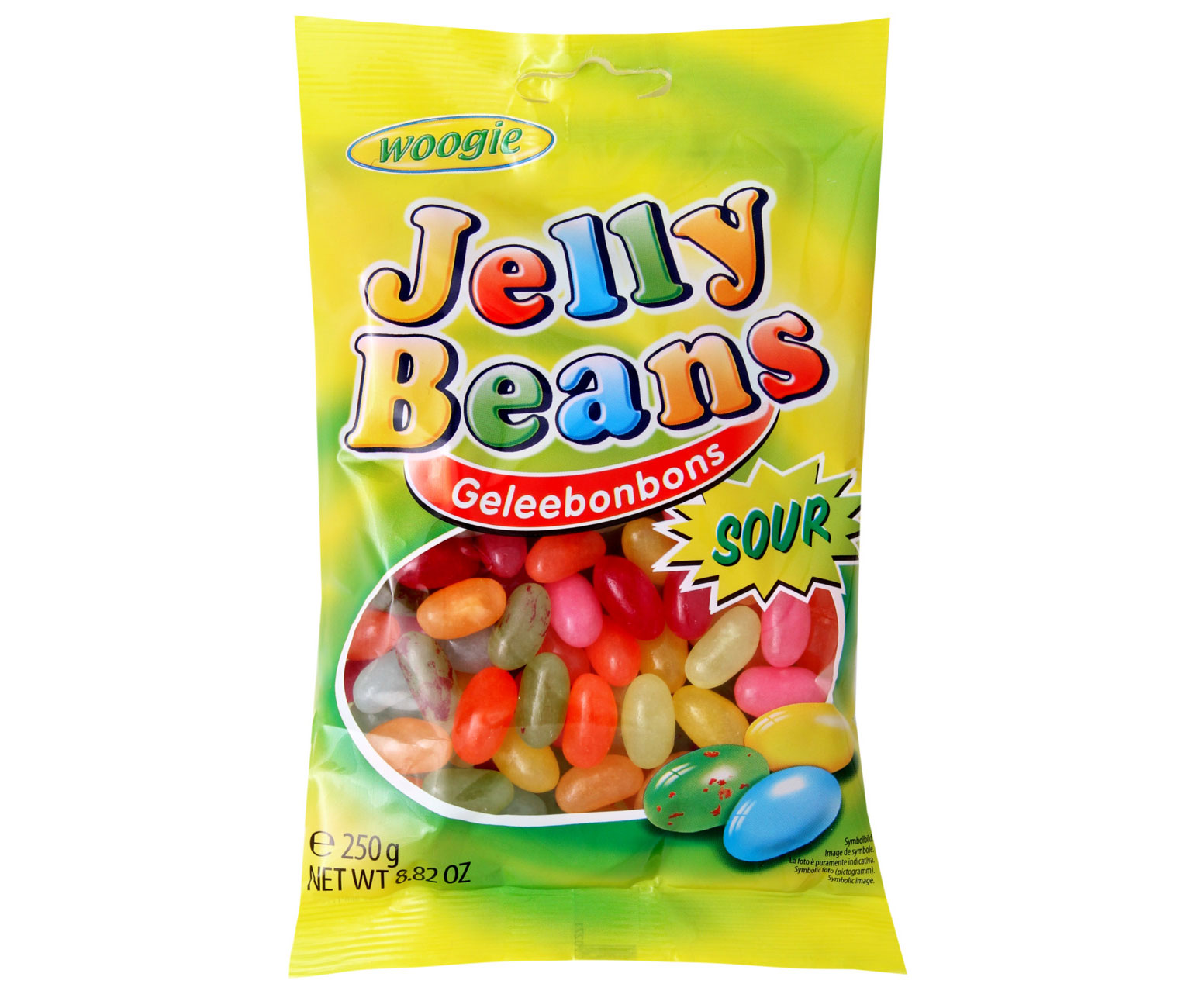 Woogie Jelly Beans Sour kwaśne żelki drażetki 250g