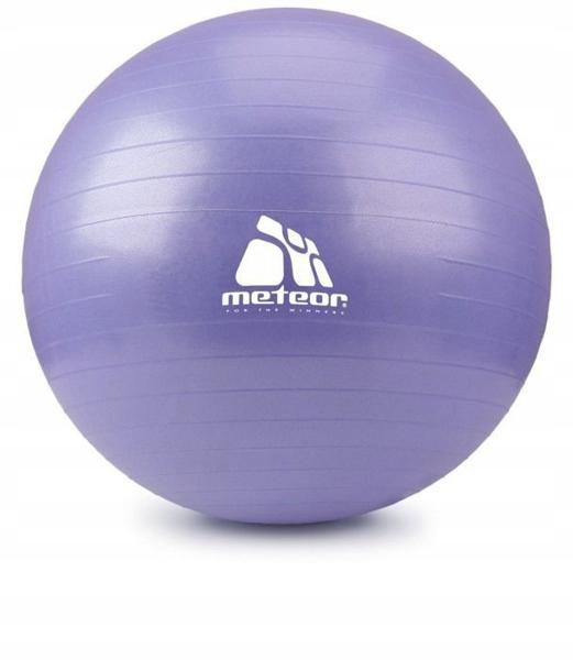 Piłka fitness Meteor 75cm z pompką fiolet