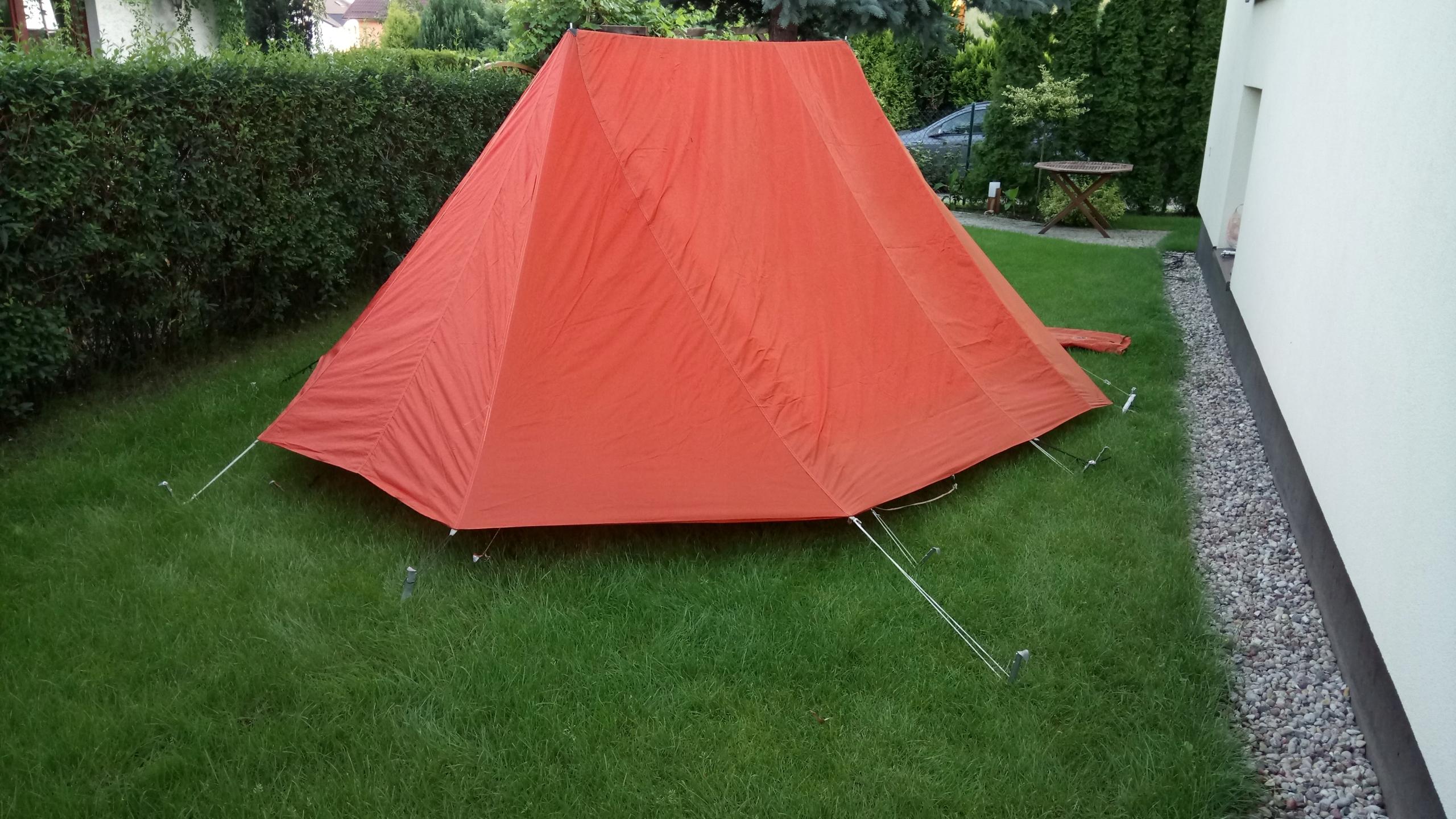 Oryginalny namiot Legionowo PRL solidny