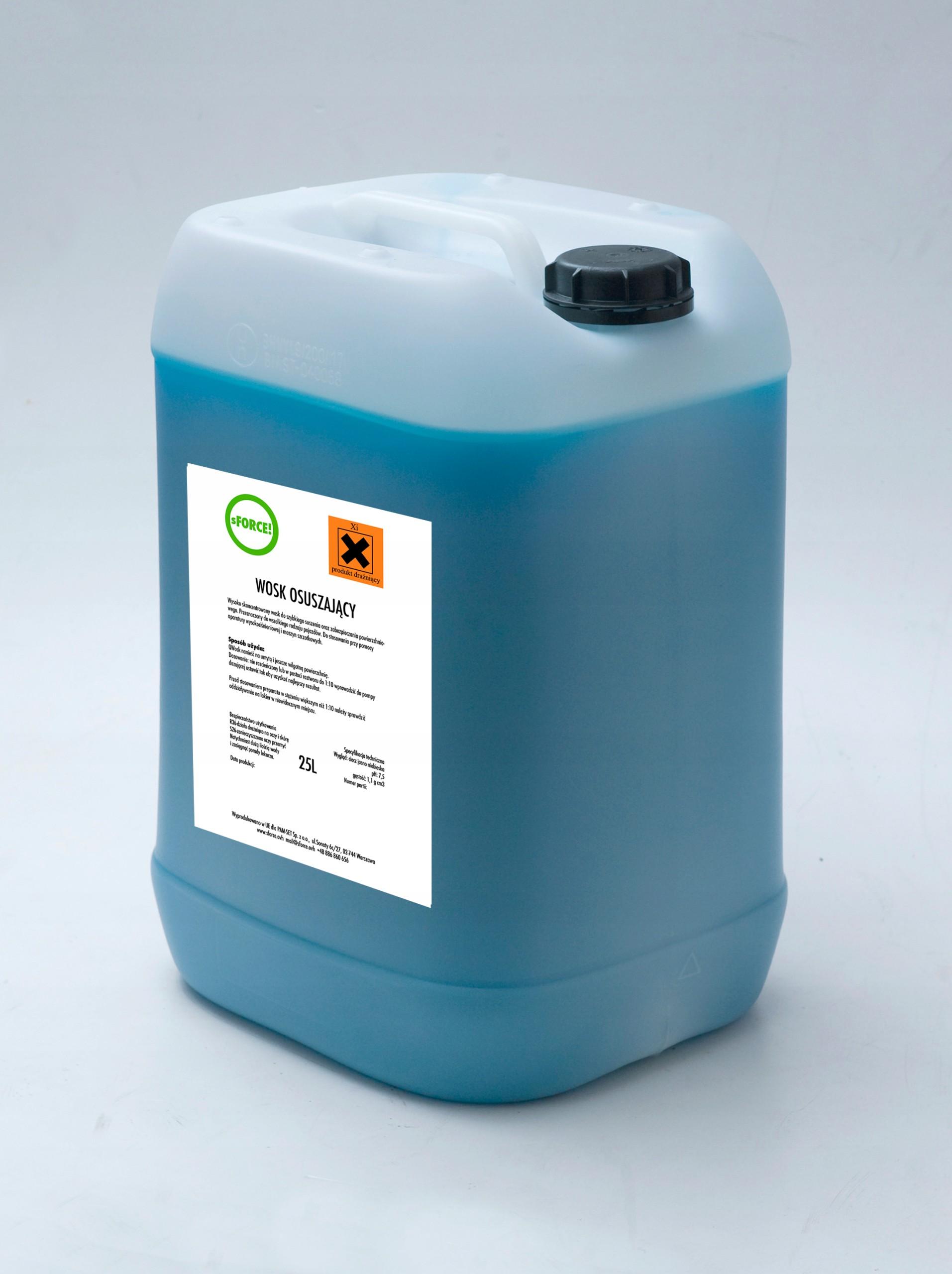 Wosk Osuszający myjnia hydrowosk sForce 25L