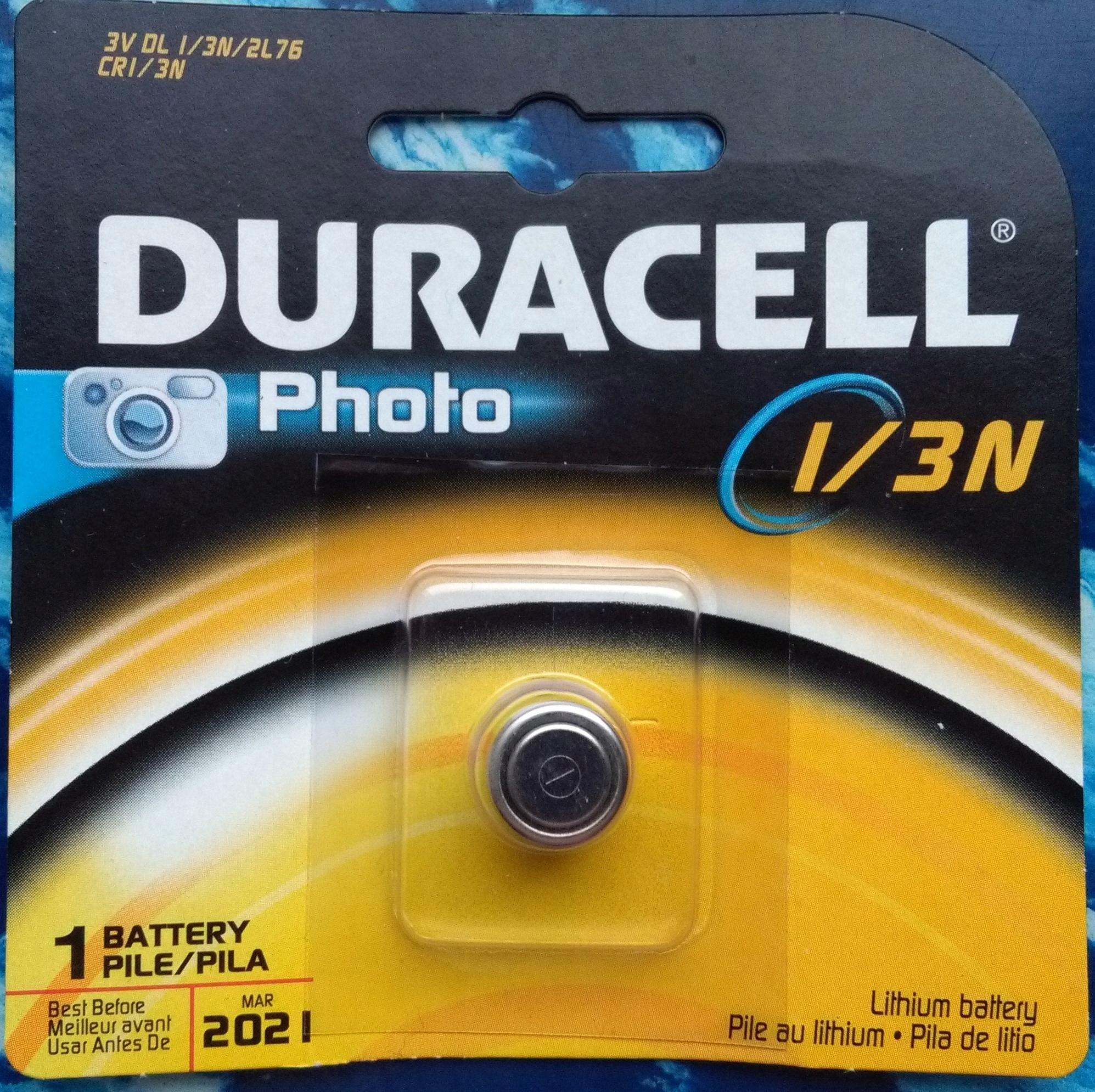 Bateria DURACELL litowa PHOTO CR 1/3 N 3V foto