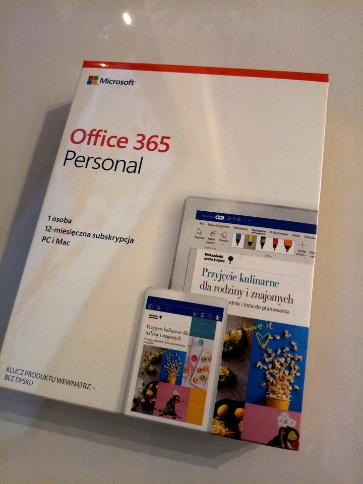 MS Office 365 Personal Box P4 1 Rok 1 User 5 urząd
