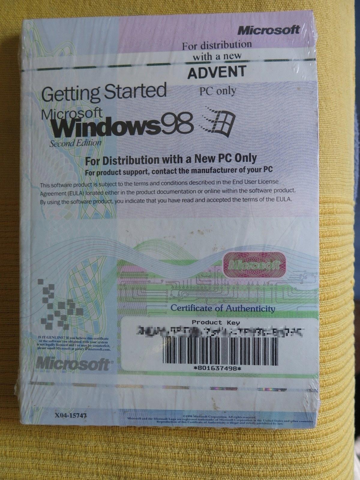 MICROSOFT WINDOWS 98 SECOND EDITION