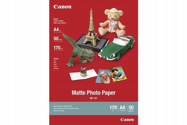 Papier fotograficzny Matowy CANON MP-101 A4 50SZT