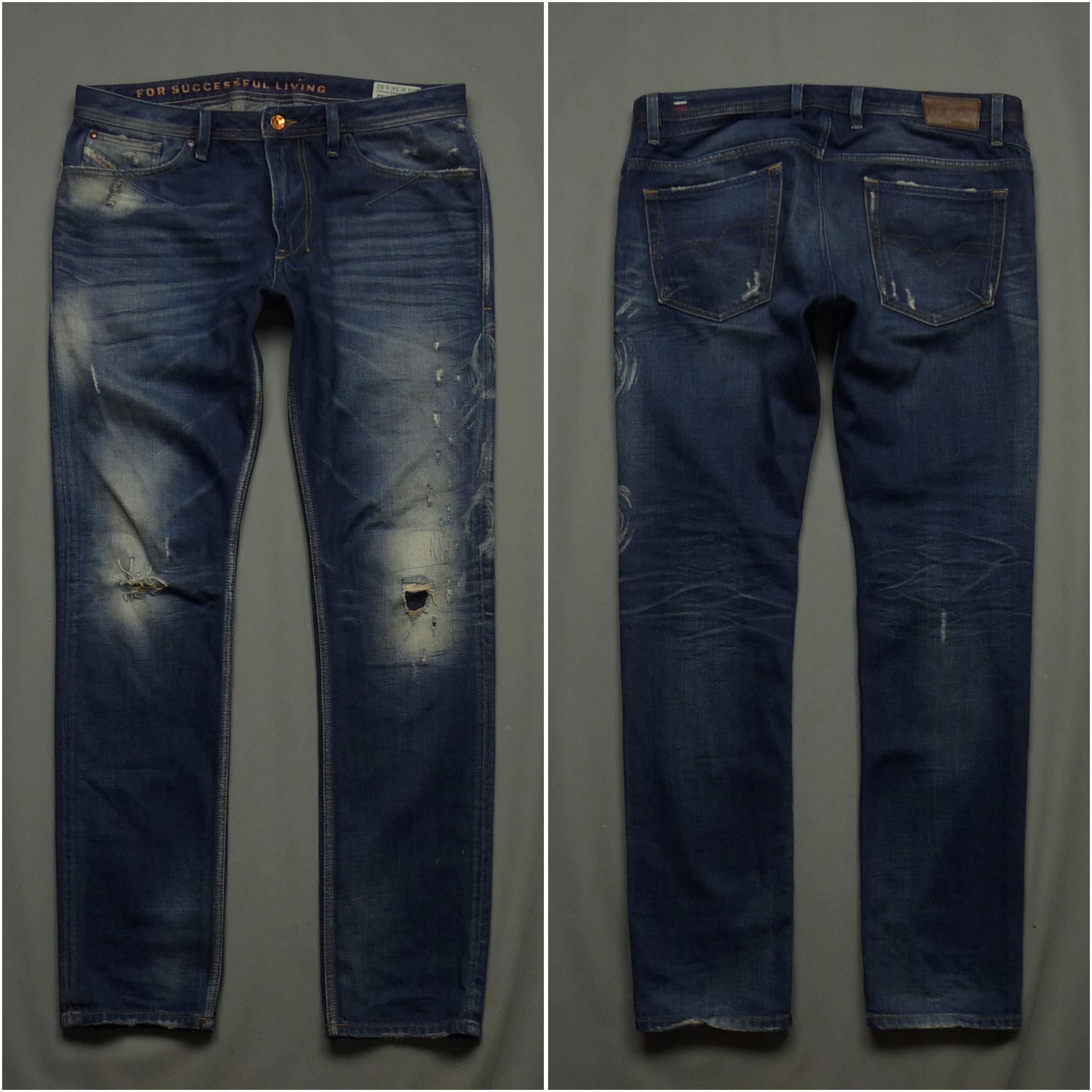 DIESEL SHIONER jeansy Slim-Skinny Vinatge W34 L32