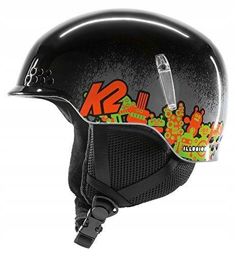 508F48 Hełm K2 dla dzieci EU czarny XS 48-51cm