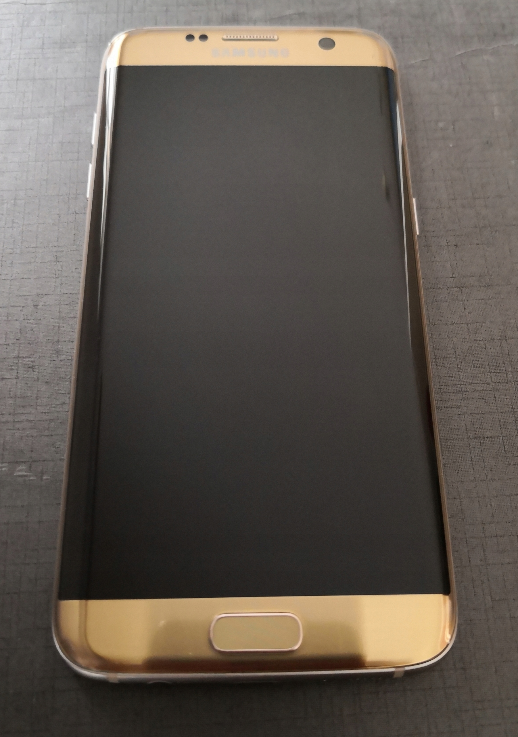 Wyświetlacz Samsung Galaxy S7 Edge gold bat plama