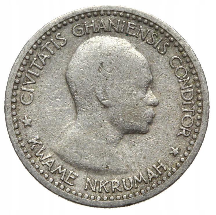 Ghana - moneta - 6 Pensów 1958