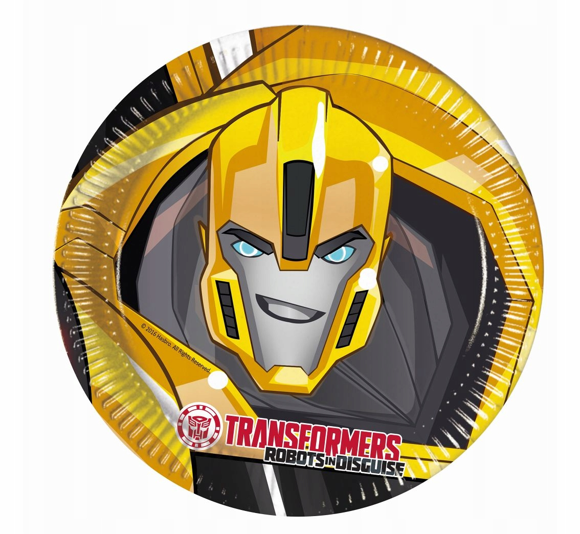 Talerzyki papierowe Transformers Power 23 cm 8 szt