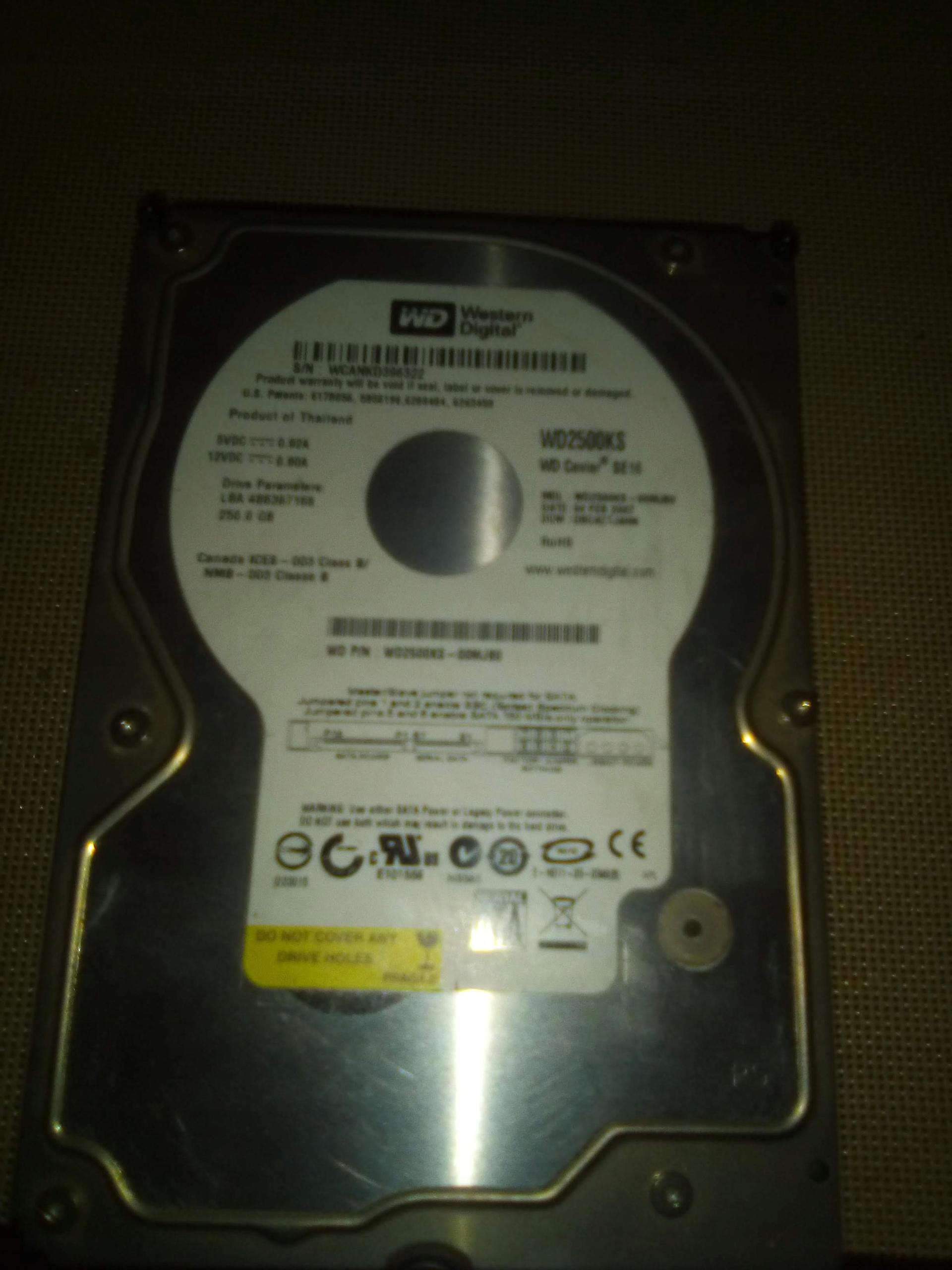 Dysk twardy 250GB SATA