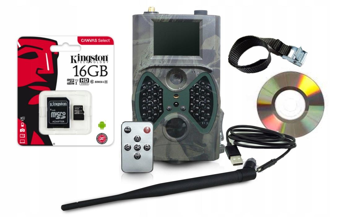 FOTOPUŁAPKA 12MPx HC300M GPRS KAMERA LEŚNA 16GB