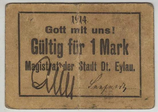 R11 Iława (Dt. Eylau), 1 M, 1914r.