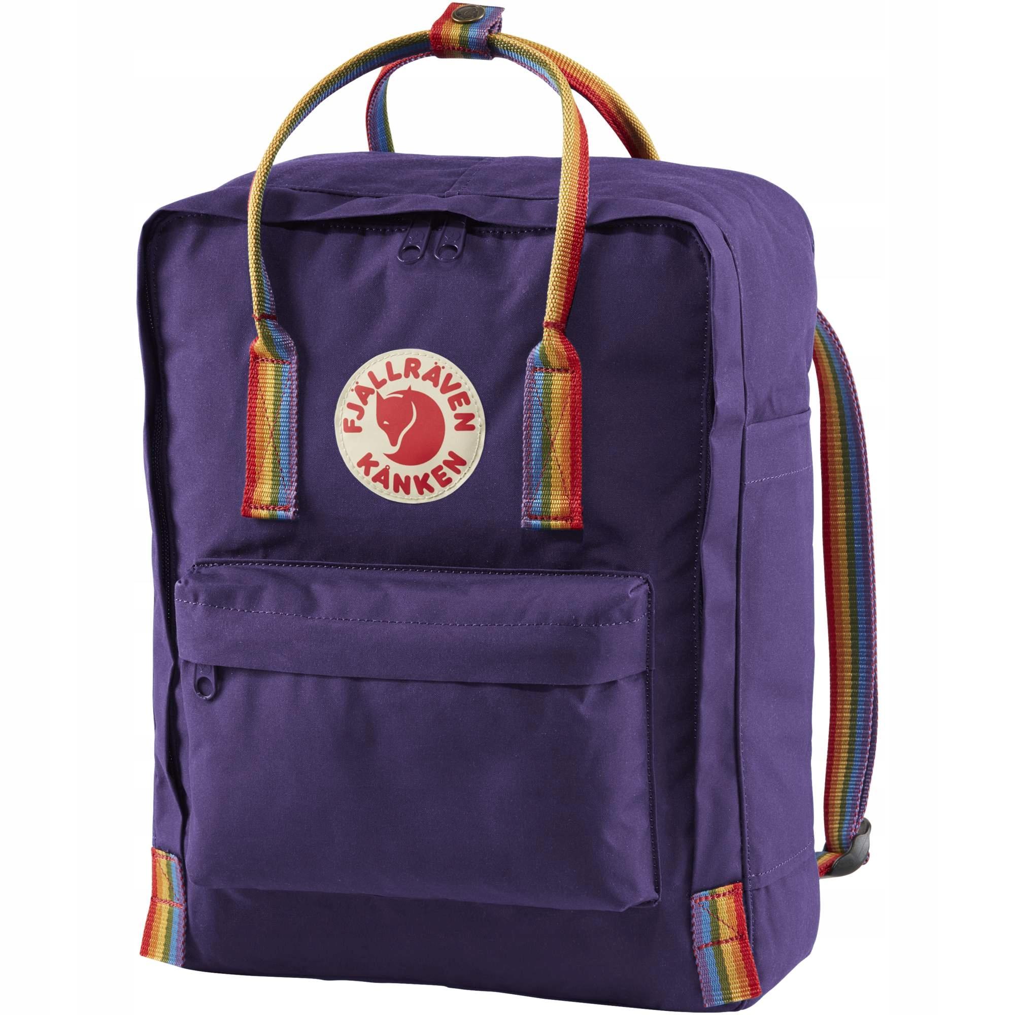 za kilka dni dla całej rodziny dobra sprzedaż Plecak Fjallraven - Kanken Rainbow Purple 16L - 7915773865 ...