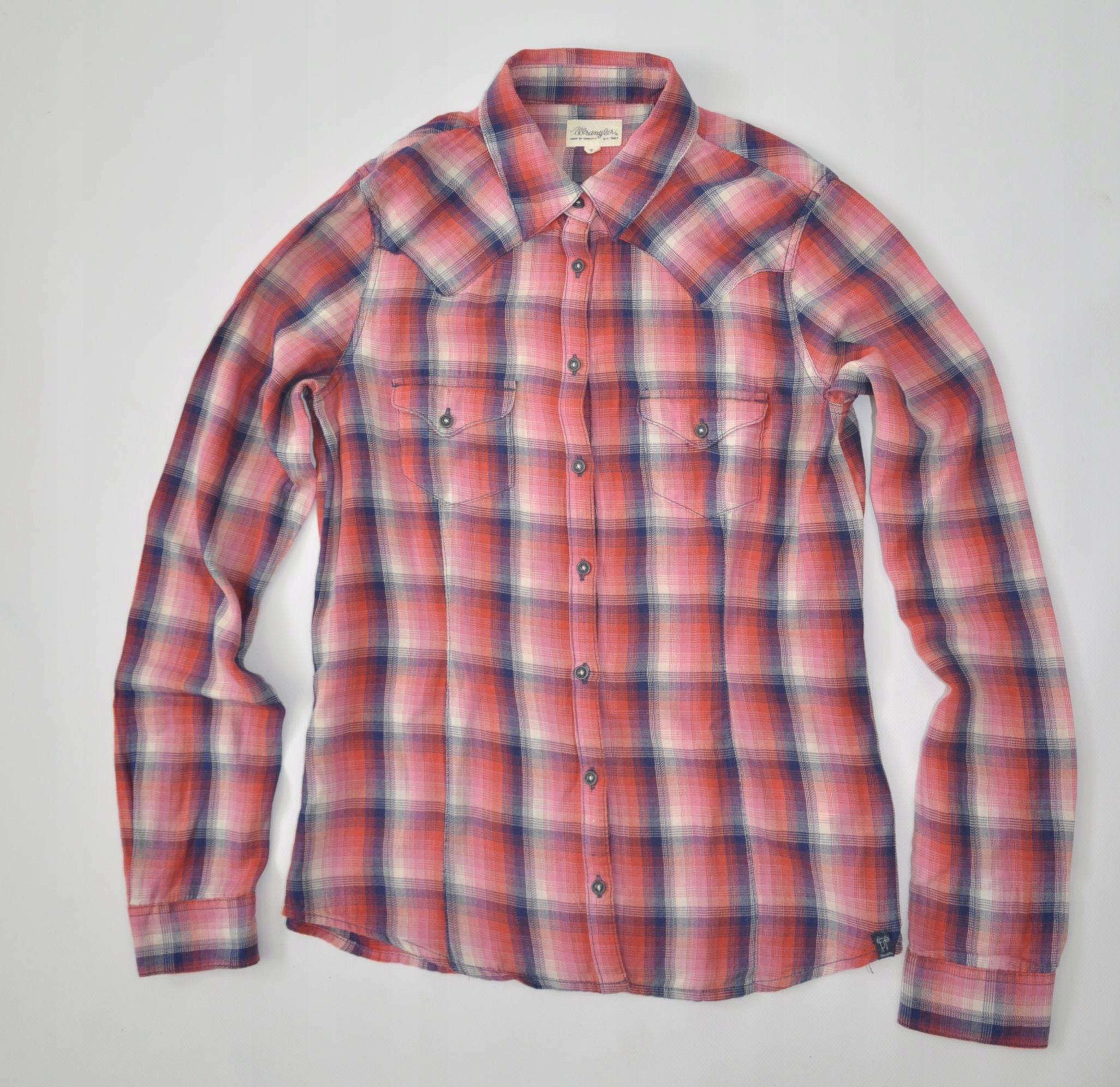 WRANGLER Modna bluzka koszulowa kratka S