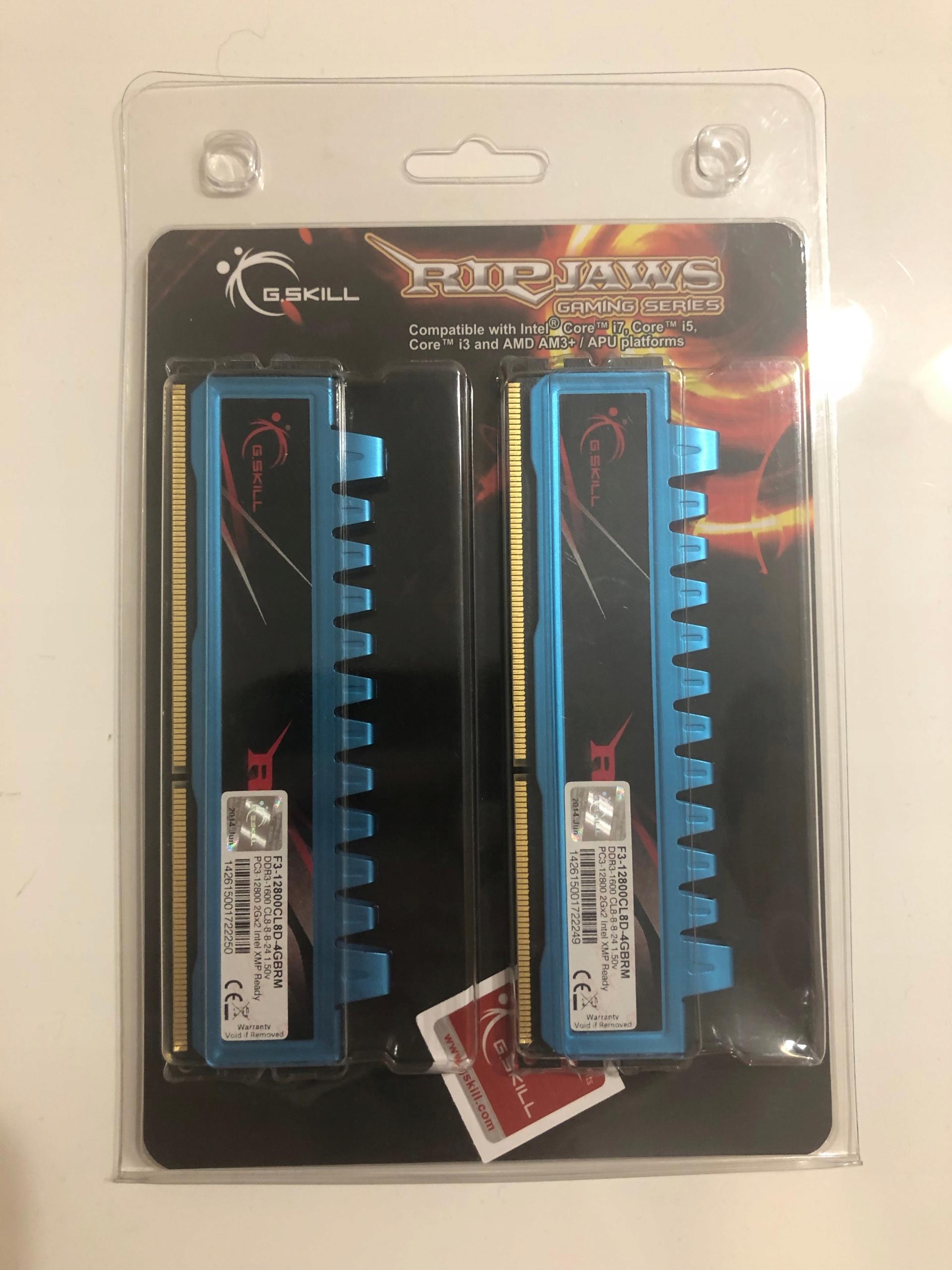 G.Skill Ripjaws 4GB (2x2GB) DDR3 RAM 1600MHz CL8