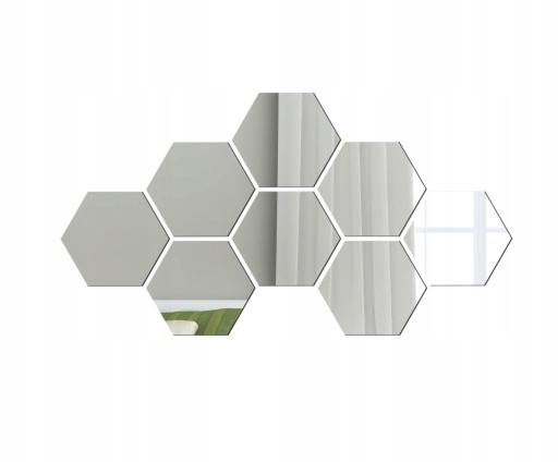 Lustro dekoracyjne plaster miodu sześciokąt szkło