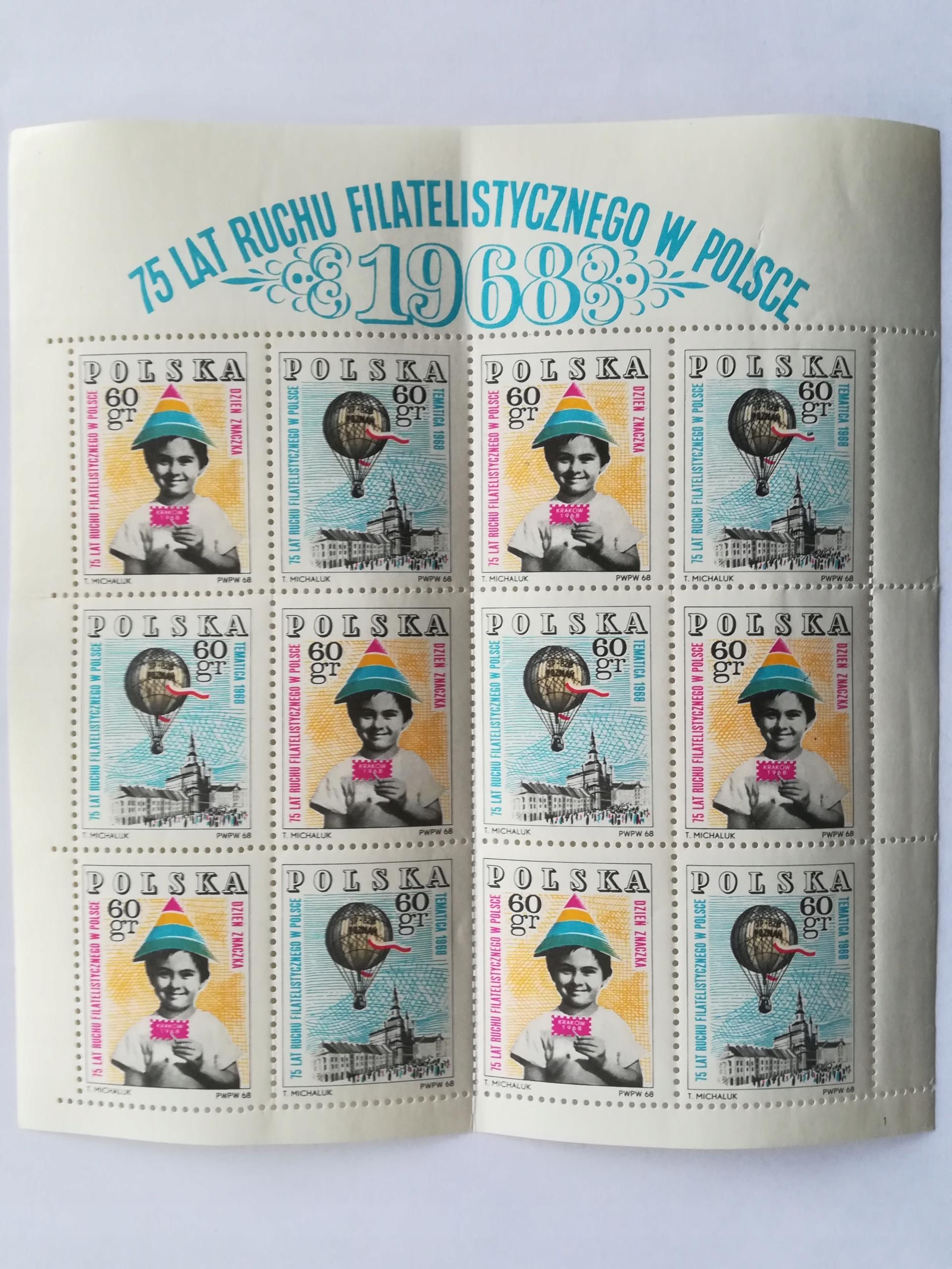 1968 75 Lat Ruchu Filatelistycznego Fi.1705-1706