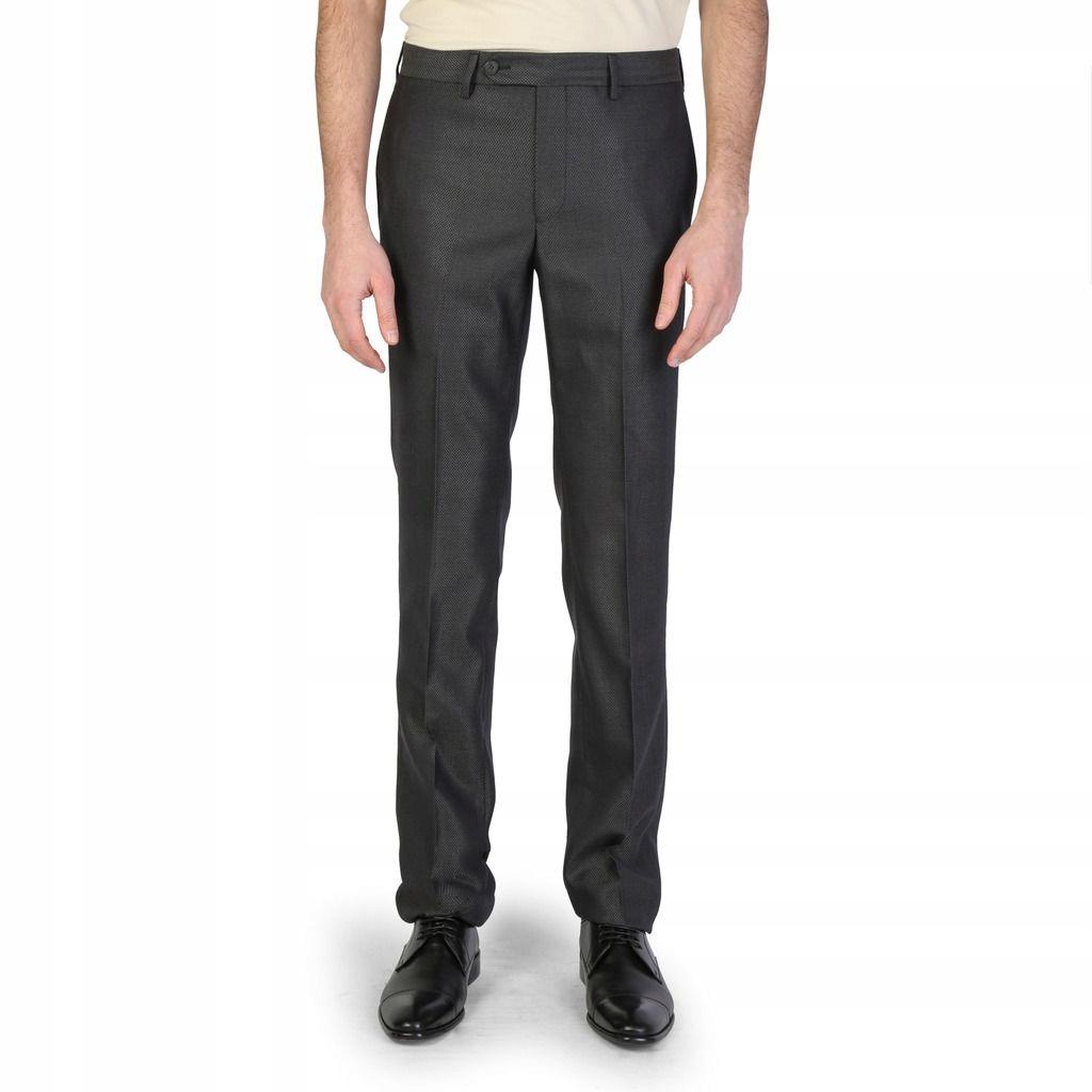 Emporio Armani męskie spodnie wizytowe szary 56