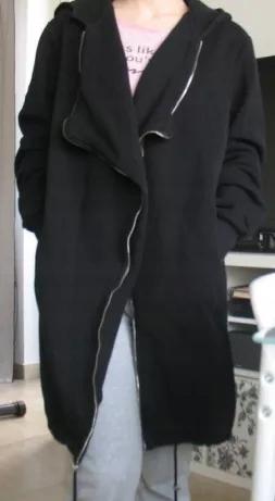 Czarny kardigan wiosenny narzutka M bluza parka