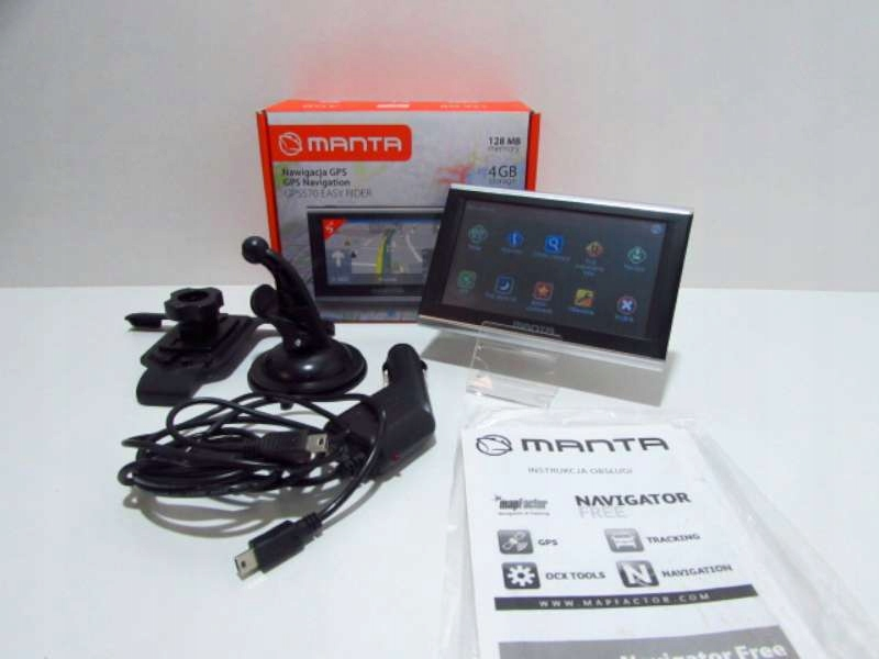 NAWIGACJA MANTA EASY RIDER GPS570/ KOMPLET