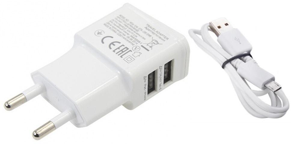 ŁADOWARKA SIECIOWA 2x USB 2A + KABEL microUSB PZ33
