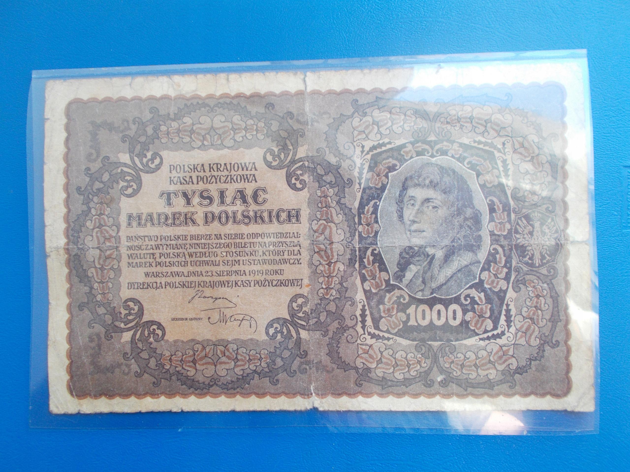 1 000 MAREK POLSKICH-1919-III Serja AG-rzadki