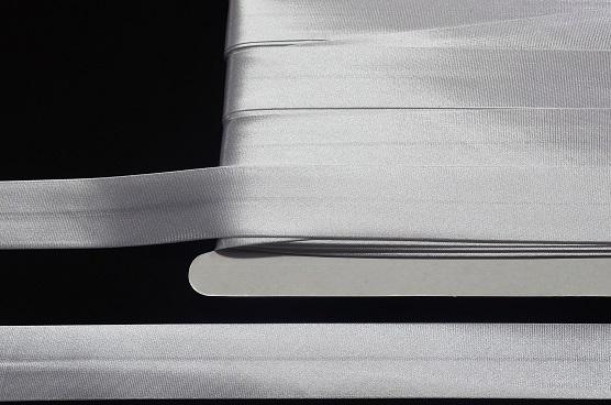 Lamówka Atłasowa Biała 25mm/25mb -Lamat/HAL52