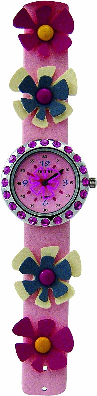 Zegarek TRENDY KIDDY KL99 cyrkonie kwiaty