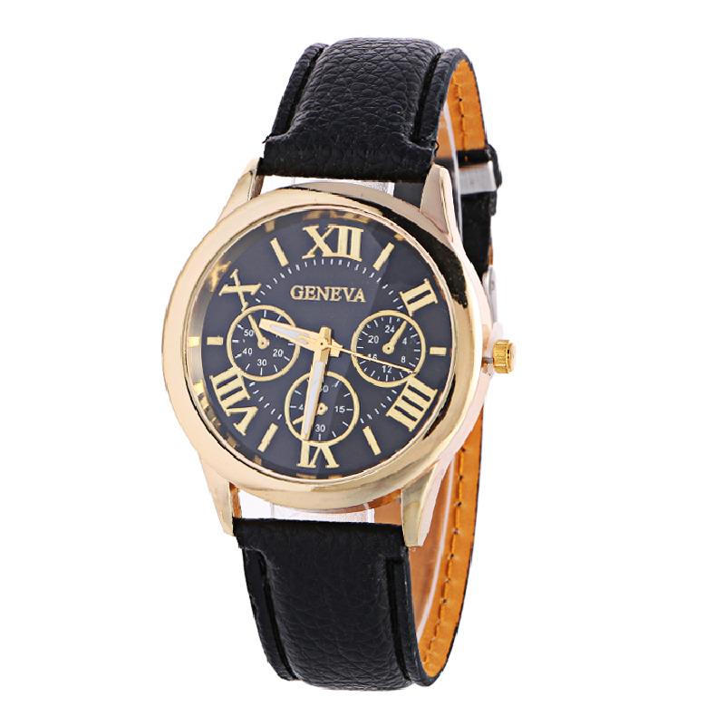 Zegarek Geneva damski męski czarny