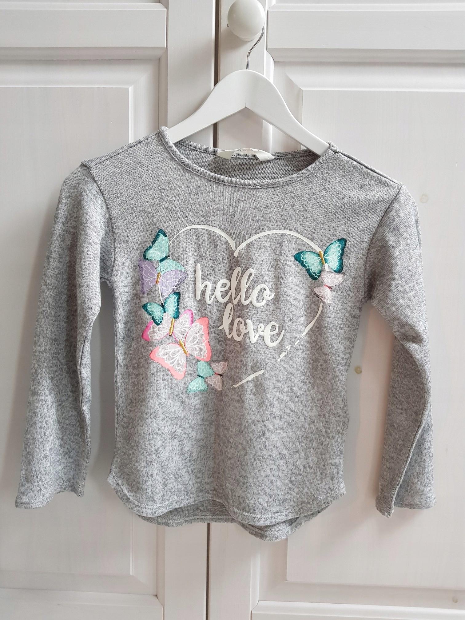 H&M sweterek motyle 122/128 6-8 lat
