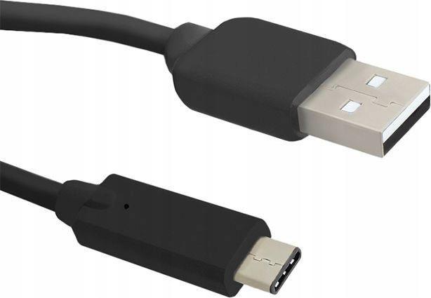 Kabel USB Qoltec USB A -> USB C (M/M) Czarny 1.