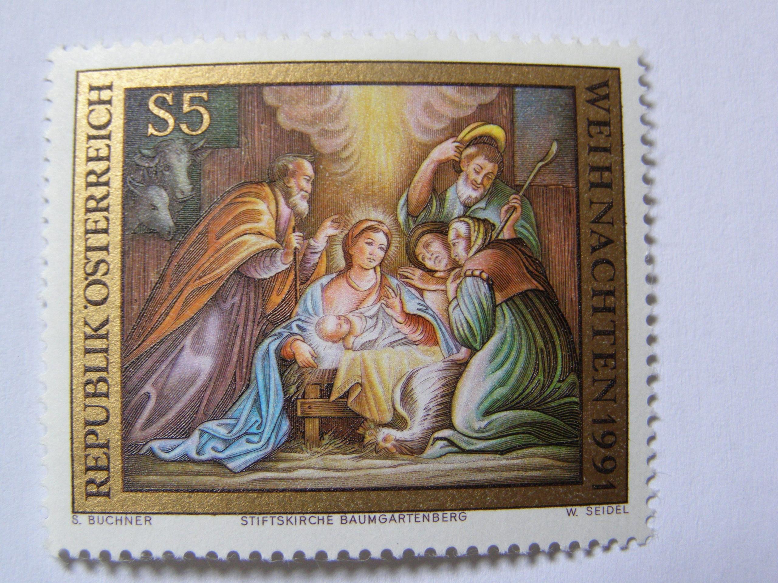 Austria - Boże Narodzenie 1991 - Mi. 2046 **