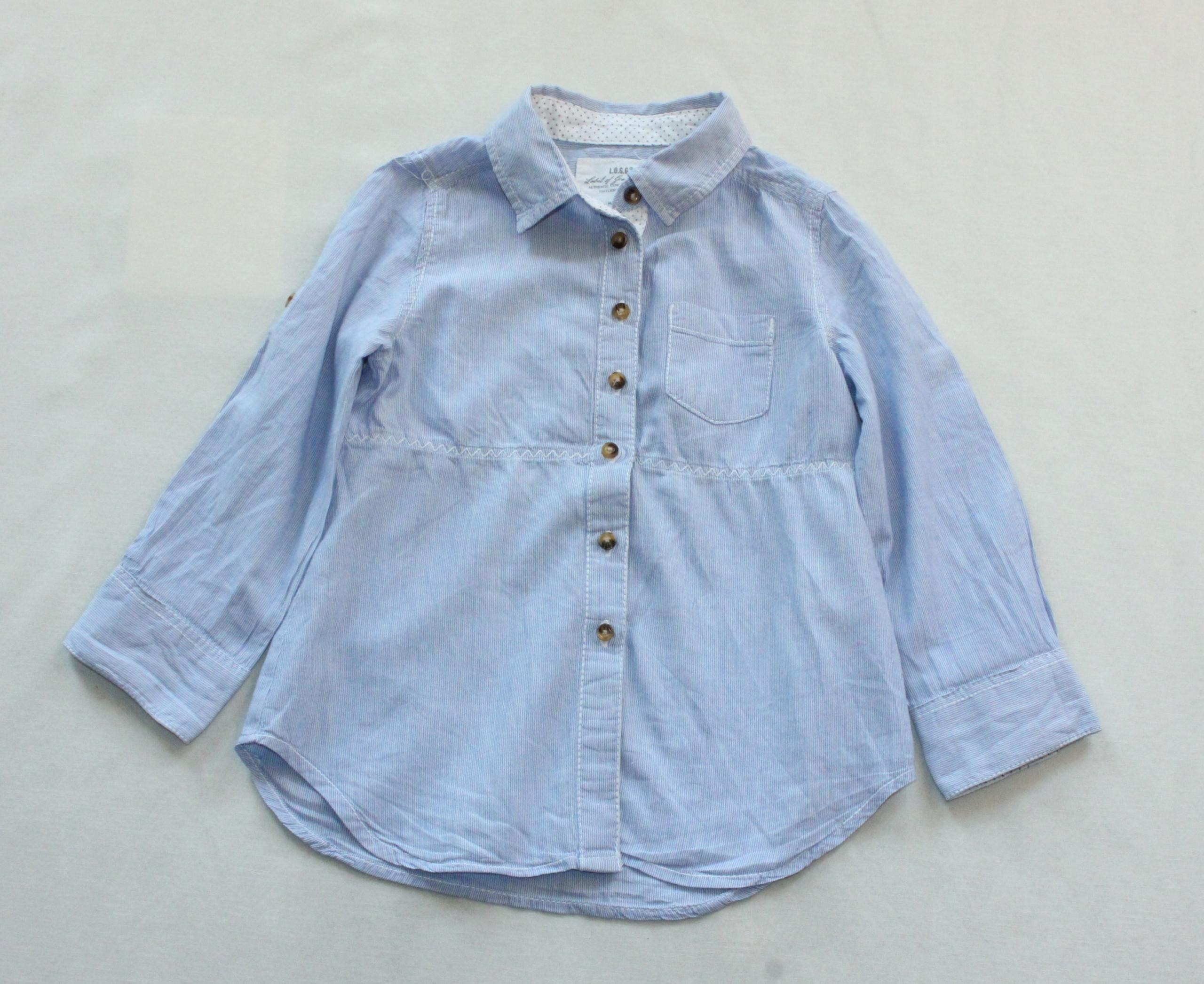 Koszula tunika H&M zapinana paski r 92 18-24 M