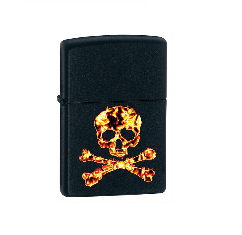 ZIPPO Fire Skull + Twój Grawer