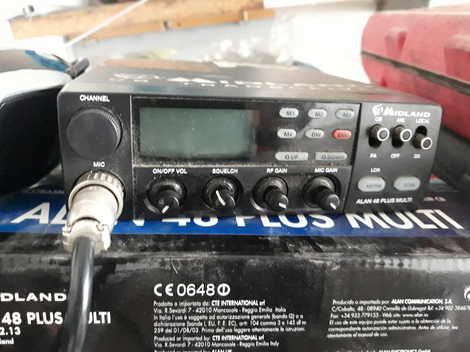 Radio CB Midland Alan 48 Multi, zamiana!