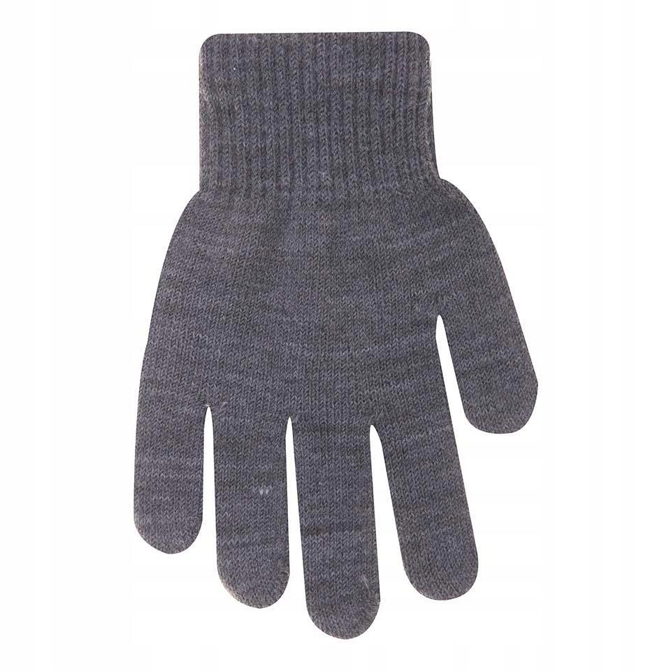 Rękawiczki ocieplane szare 12 cm