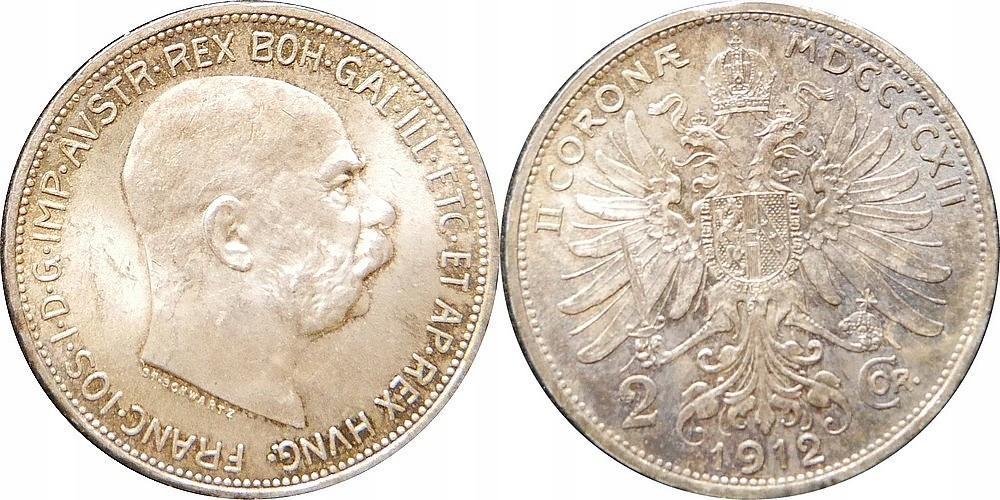 Austrowęgry - Franciszek Józef - 2 korony 1912 !!!