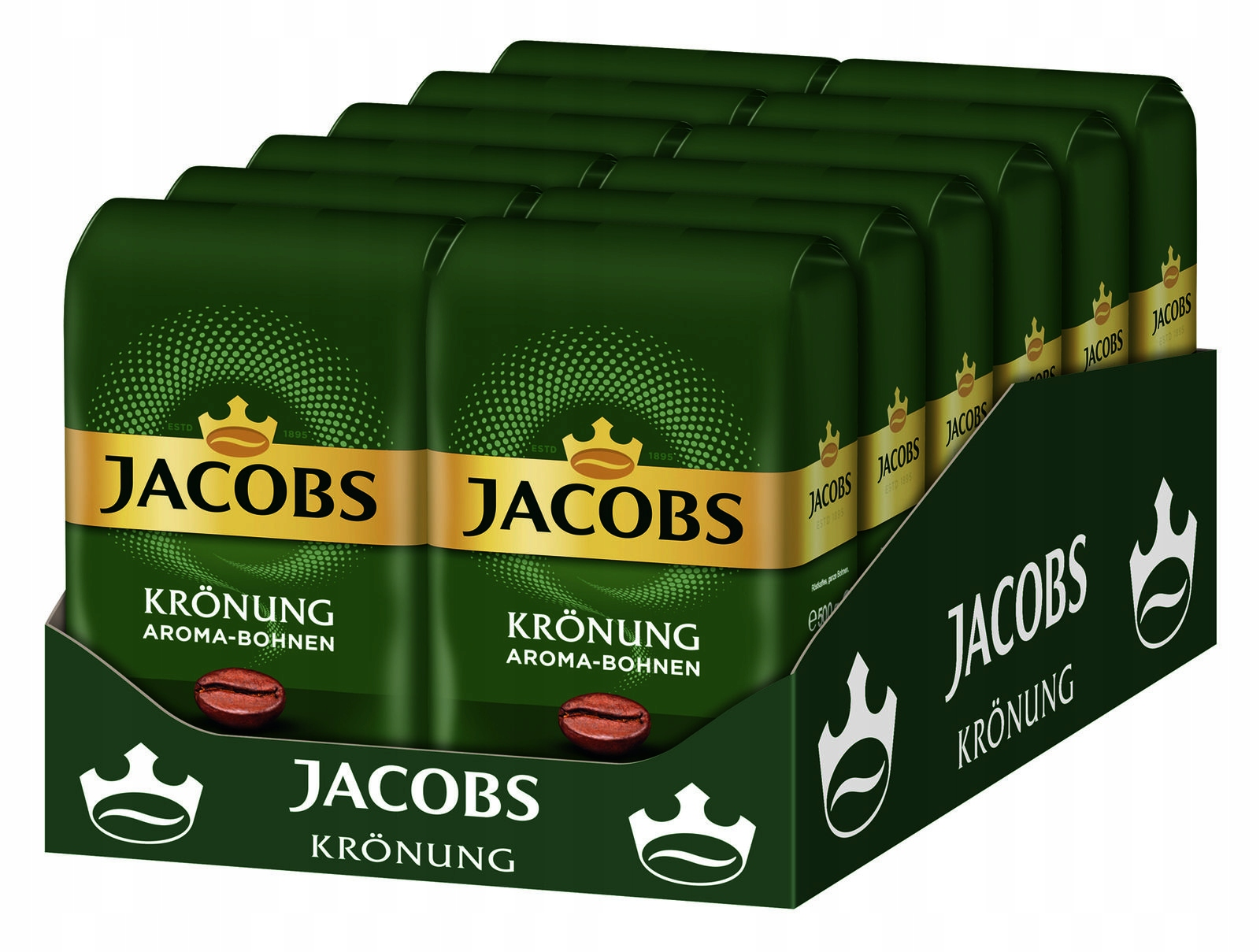 Jacobs Kronung Aroma-Bohnen ziarno box 12x500g=6kg