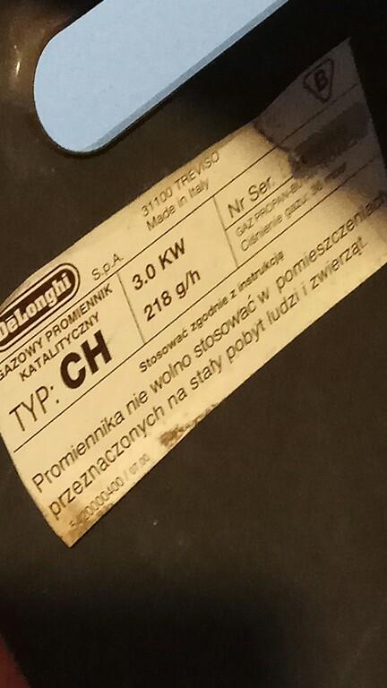 Tylko na zewnątrz Piecyk Gazowy DeLonghi katalityczny - 7262670242 - oficjalne DZ49