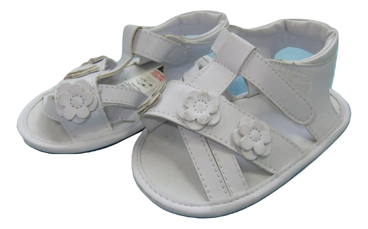 białe sandałki niemowlęce  roz.19 wiek 9-12m+