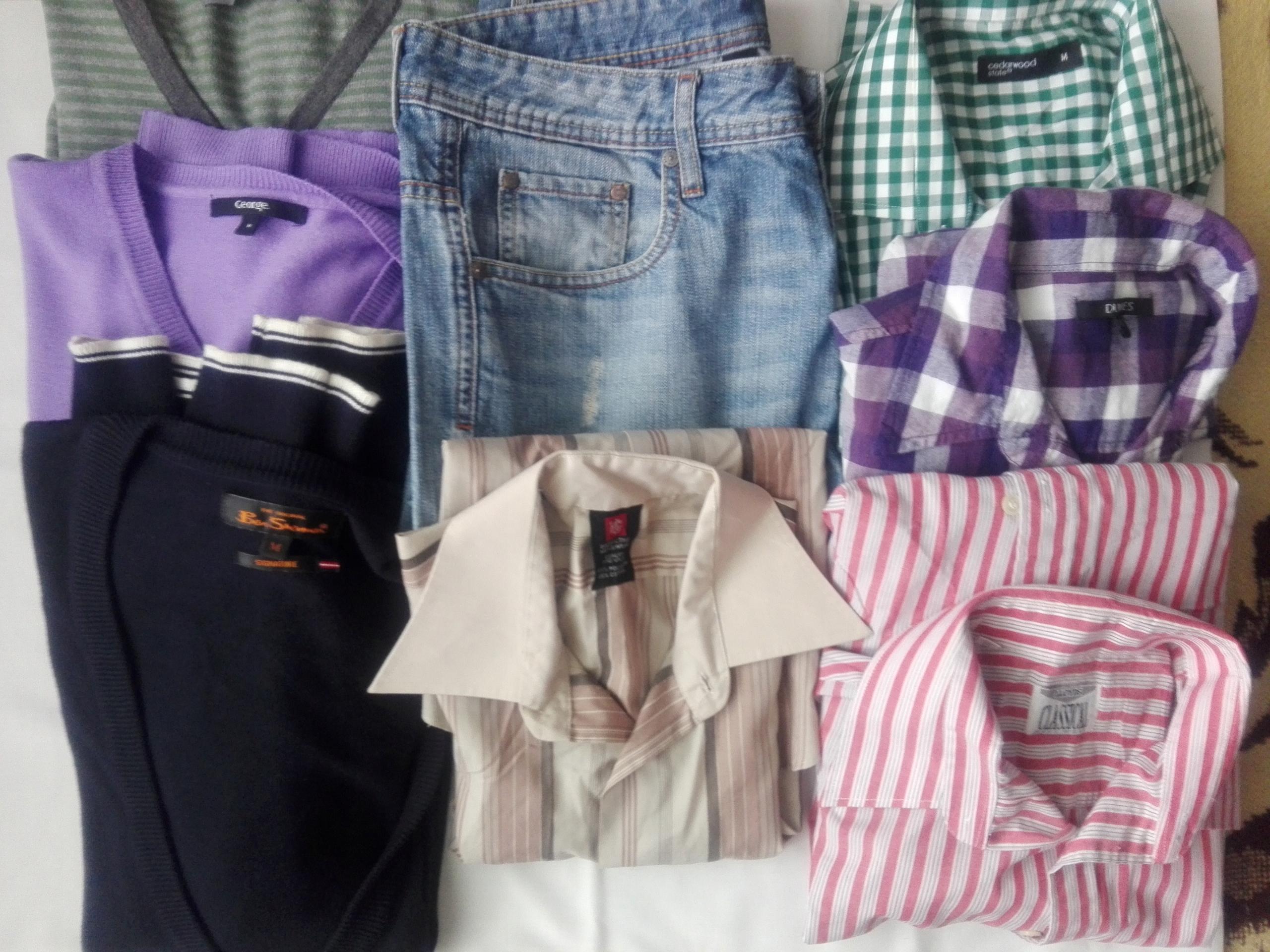 Zestaw ubrań męskich 8 szt -M